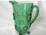 Water Pitcher; Ruffled Eye, Emerald Green