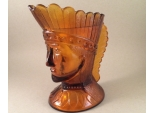 Amber Indian Head Creamer