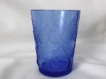 Teardrop & Tassel (Pattern #102): Tumbler with full pattern, Cobalt Blue