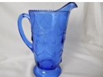 Teardrop & Tassel (Pattern #102): Water Pitcher, Cobalt Blue