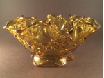 Amber Fluted Bowl