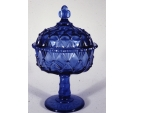 Cobalt Blue Jelly Compote
