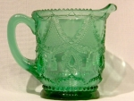 Teardrop & Tassel (Pattern #102): Creamer, Emerald Green