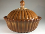 Chocolate Ribbed Dish