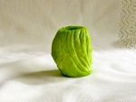 Toothpick Holder: Witch Head (view from back), Nile Green