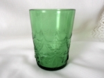 Teardrop & Tassel (Pattern #102): Tumbler with half pattern, Emerald Green