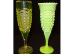 Canary and Nile Green Austrian Vase