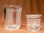 Holly (Pattern 450) Open Sugar and Toothpick Holder   , Crystal